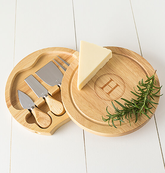 Personalized Gourmet 5 Piece Cheese Board Set with Utensils - View 3