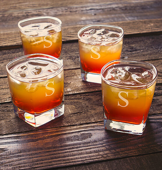 Personalized Rocks Glasses 10.5 oz., Set of 4 - View 3