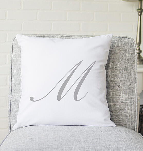 "Personalized Script Initial 16"" Throw Pillow - View 4"