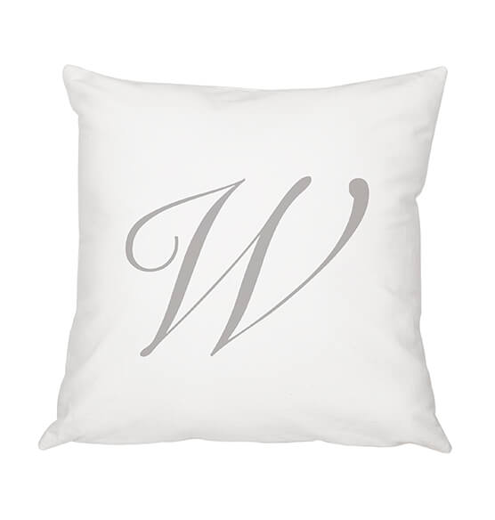 "Personalized Script Initial 16"" Throw Pillow - View 5"