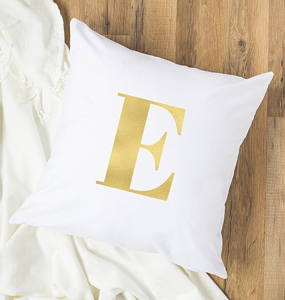 "Personalized Gold Foil Initial 16"" Throw Pillow - View 2"