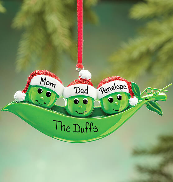 Personalized Peas in a Pod Ornament - View 2
