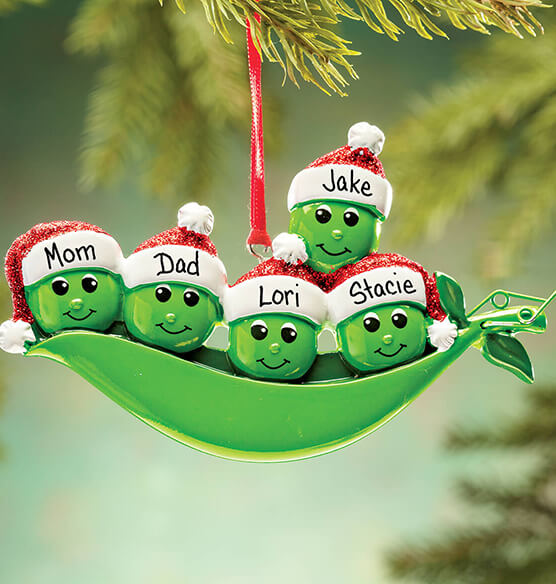 Personalized Peas in a Pod Ornament - View 4