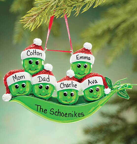 Personalized Peas in a Pod Ornament - View 5