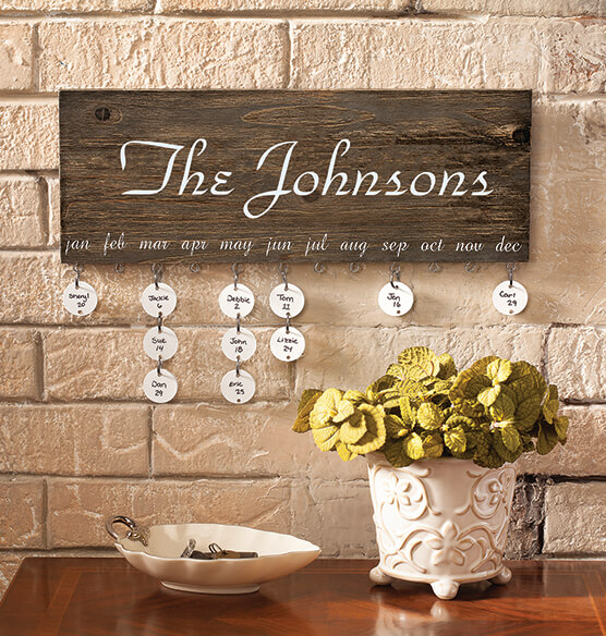 Personalized Dates To Remember Wall Hanging - View 5