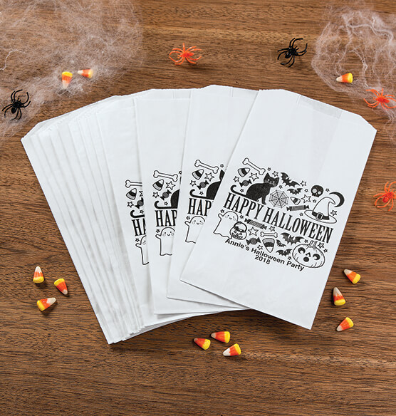 Personalized Halloween Icon Treat Bags, Set of 12 - View 2