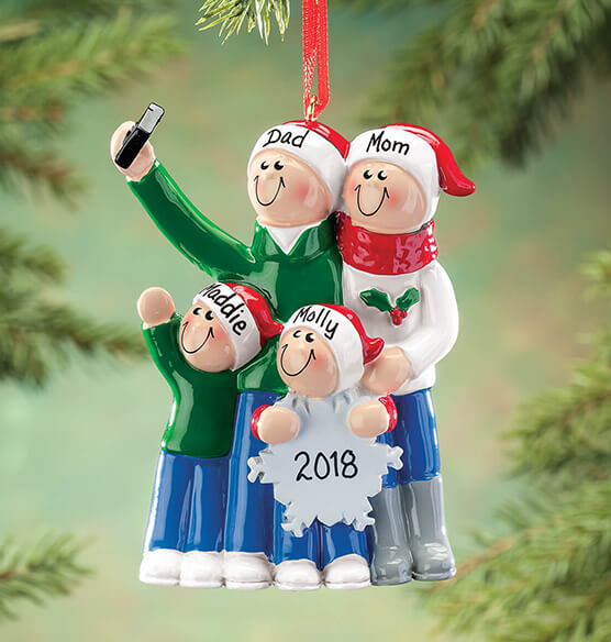 Personalized Selfie Family Ornament - View 3