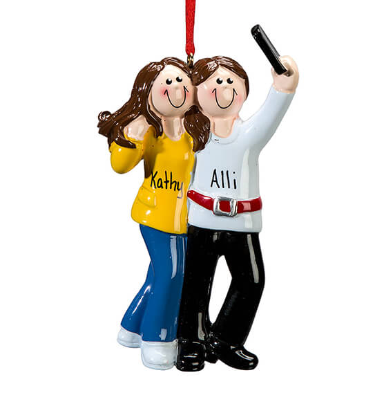 Personalized Selfie Friends Ornament - View 2
