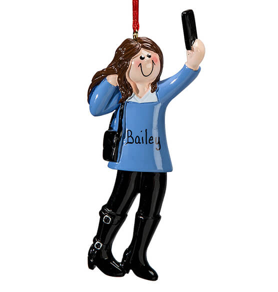 Personalized Selfie Ornament - View 2