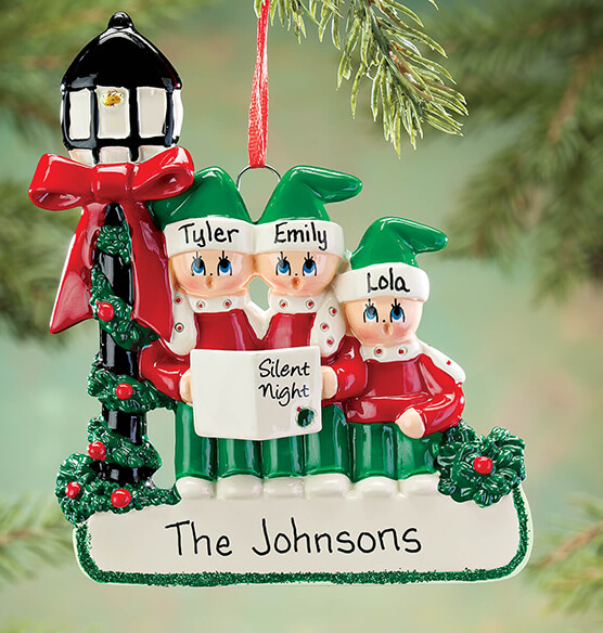 Personalized Caroler Family Ornament - View 2