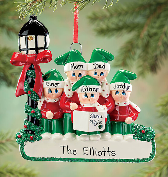 Personalized Caroler Family Ornament - View 4