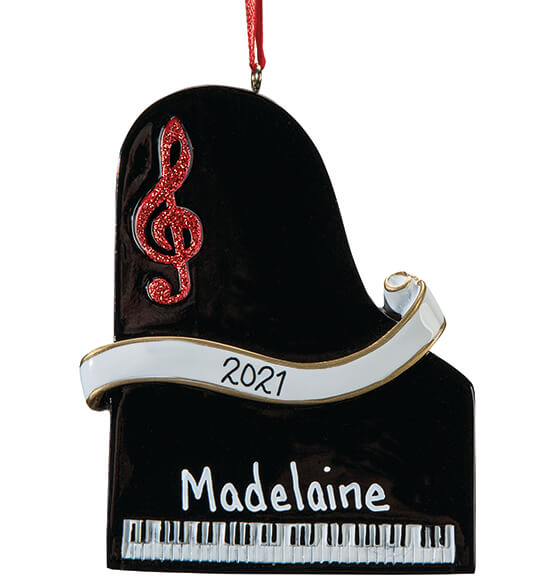 Personalized Piano Ornament - View 2