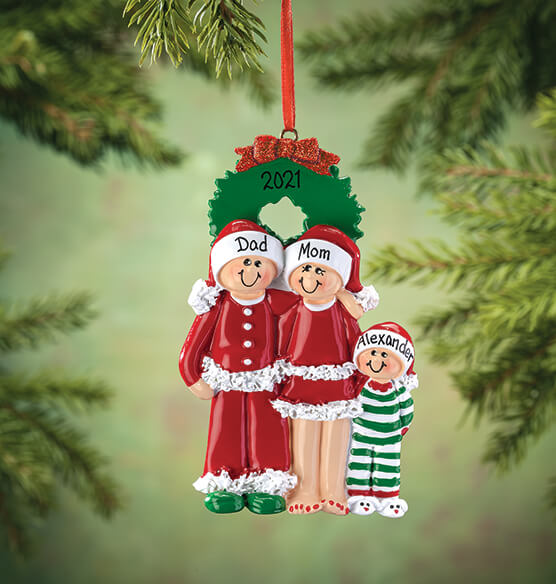 Personalized Christmas Eve Family Ornament - View 2