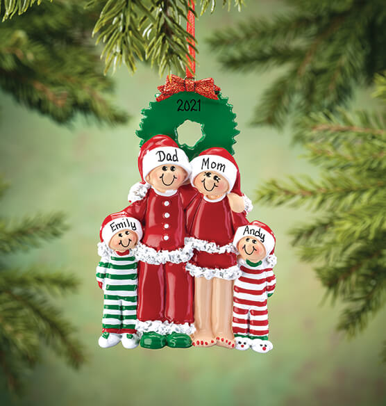 Personalized Christmas Eve Family Ornament - View 3