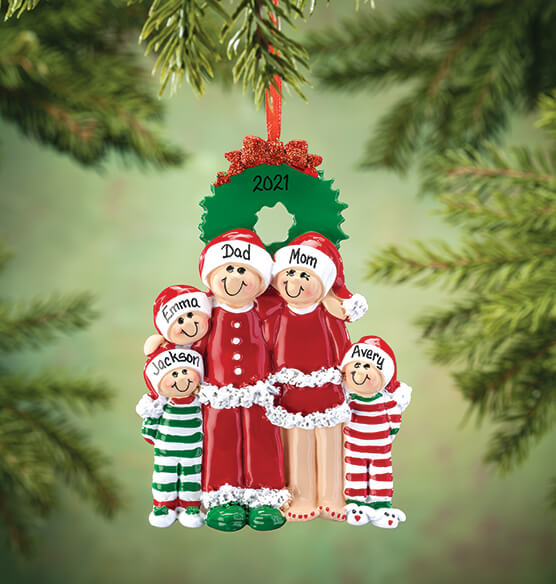 Personalized Christmas Eve Family Ornament - View 4