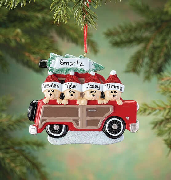 Personalized Woody Wagon Family Ornament - View 3