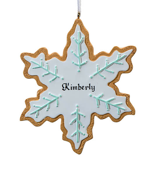 Personalized Snowflake Cookie Ornament - View 2