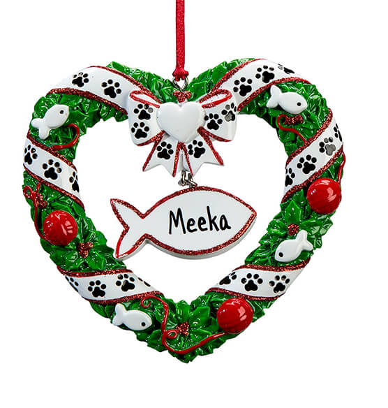 Personalized Pet Wreath Ornament - View 3