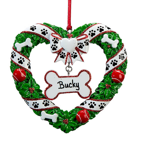 Personalized Pet Wreath Ornament - View 4