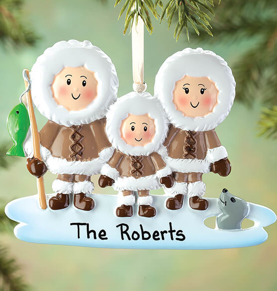 Personalized Eskimo Family Ornament - View 2
