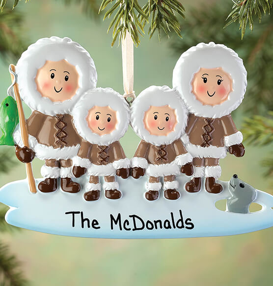 Personalized Eskimo Family Ornament - View 3