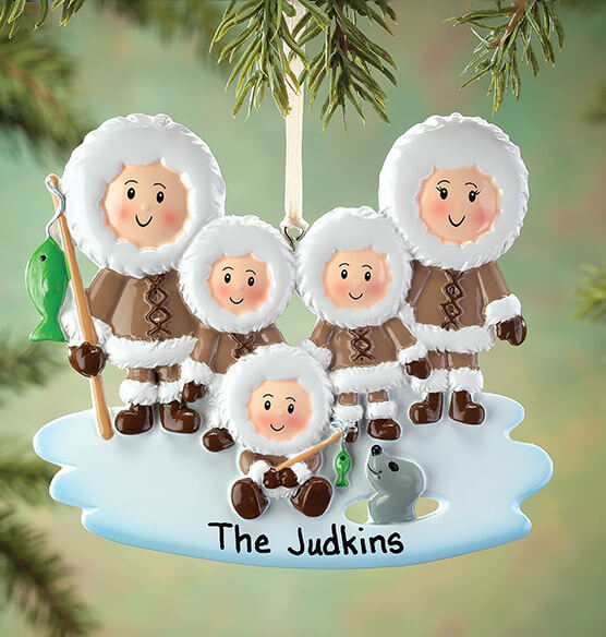 Personalized Eskimo Family Ornament - View 4