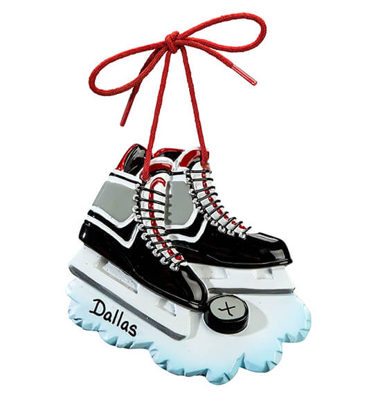 Personalized Hockey Skates Ornament - View 2