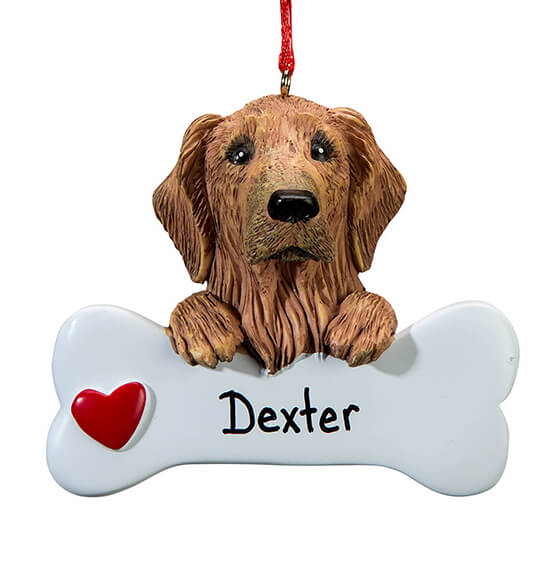 Personalized Golden Retriever Ornament - View 2