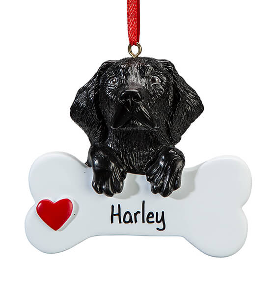 Personalized Black Lab Ornament - View 2