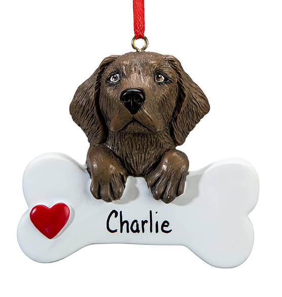 Personalized Chocolate Lab Ornament - View 2