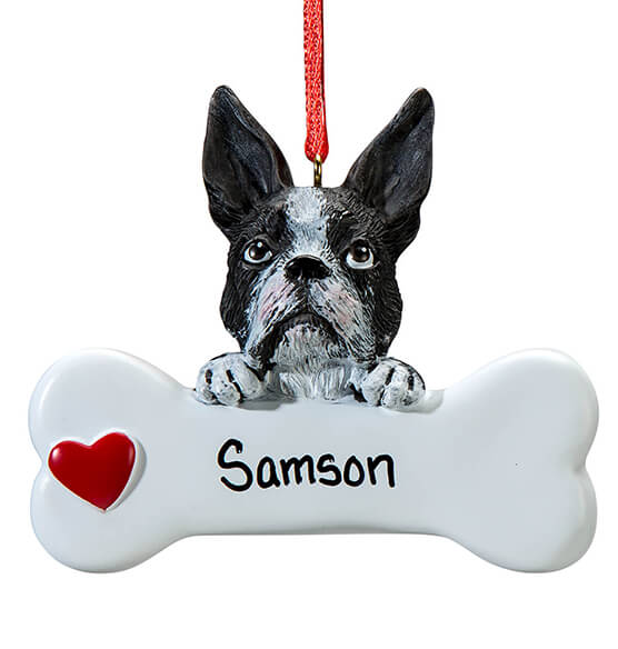 Personalized Boston Terrier Ornament - View 2