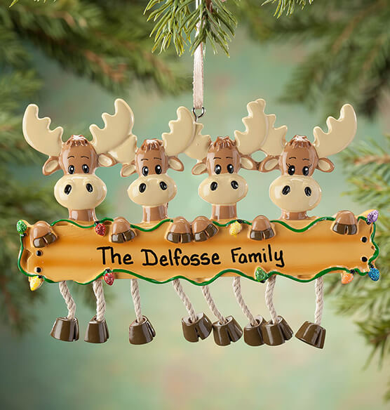 Personalized Moose Family Ornament - View 3