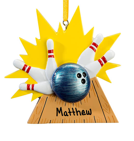 Personalized Bowling Ornament - View 2