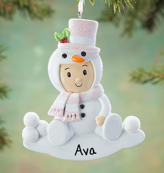 Personalized Snowbaby Ornament - View 2