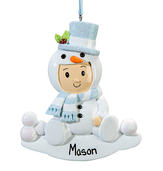 Personalized Snowbaby Ornament - View 3