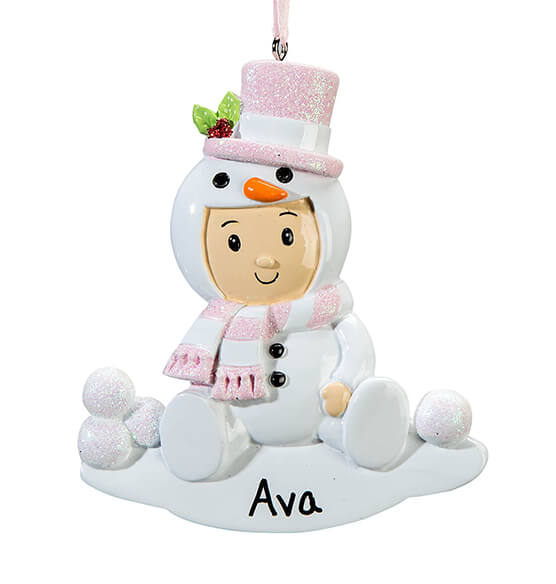 Personalized Snowbaby Ornament - View 4
