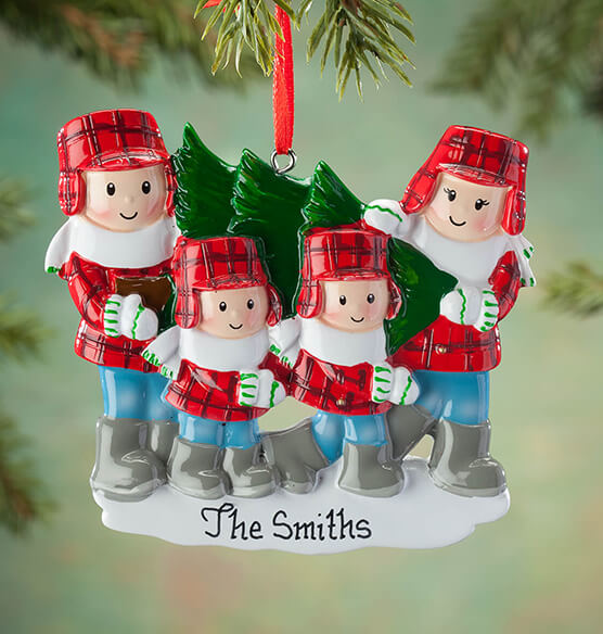 Personalized Family and Tree Ornament - View 3