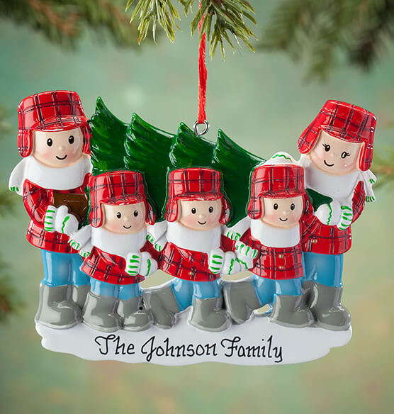 Personalized Family and Tree Ornament - View 4