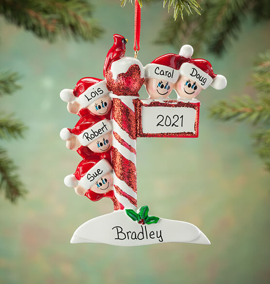 Personalized Street Post Family Ornament - View 4