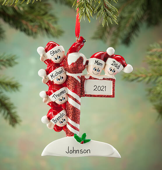 Personalized Street Post Family Ornament - View 5