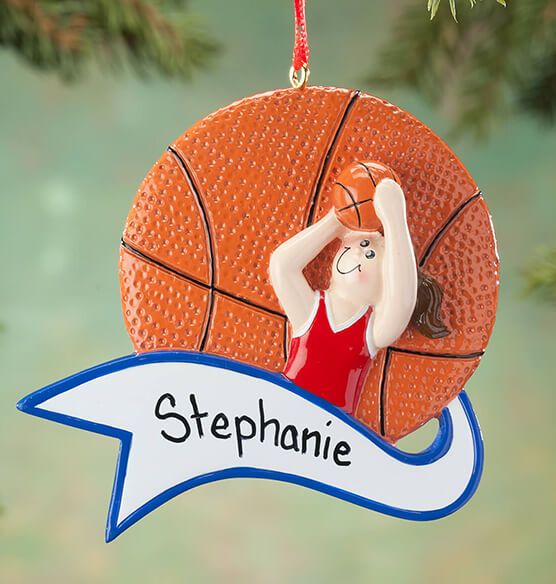 Personalized Basketball Ornament - View 2