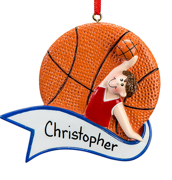 Personalized Basketball Ornament - View 3