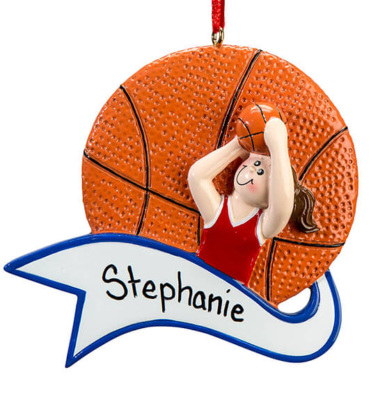 Personalized Basketball Ornament - View 4