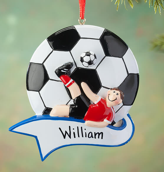 Personalized Soccer Ornament - View 2