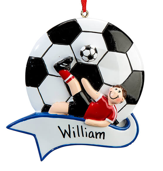 Personalized Soccer Ornament - View 3