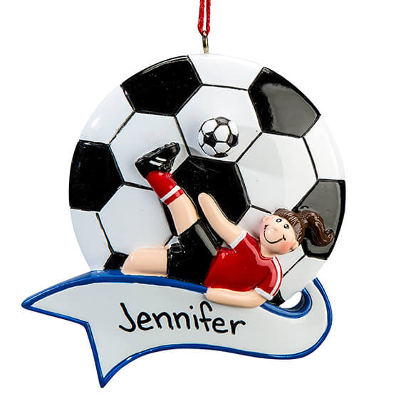 Personalized Soccer Ornament - View 4
