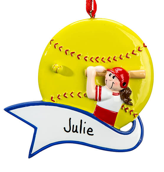 Personalized Softball Ornament - View 2