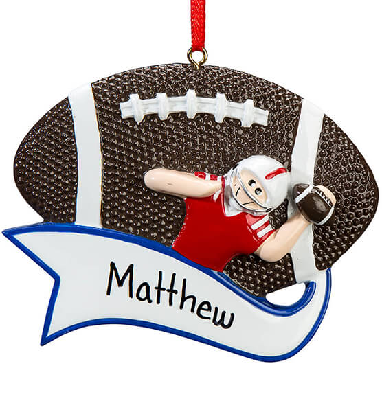 Personalized Football Ornament - View 2