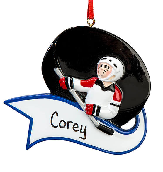 Personalized Hockey Ornament - View 2