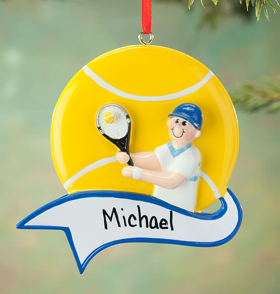 Personalized Tennis Ornament - View 2